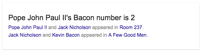 Pope John Paul II bacon number