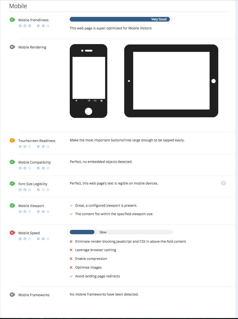 WooRank mobile friendliness criteria