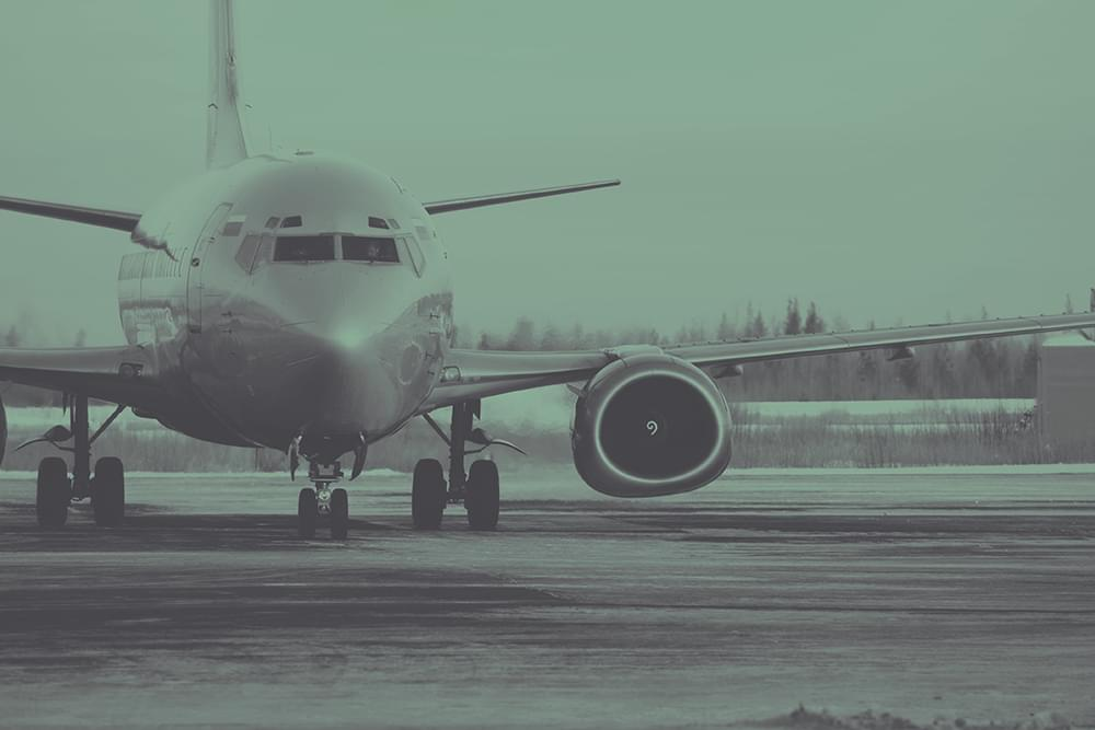 A plane landing (on your landing page)