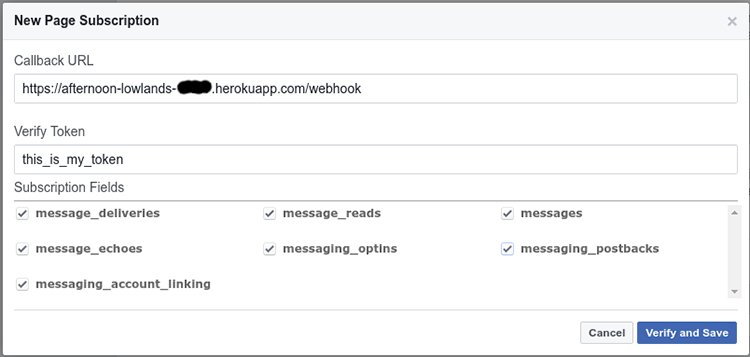 Webhook Settings