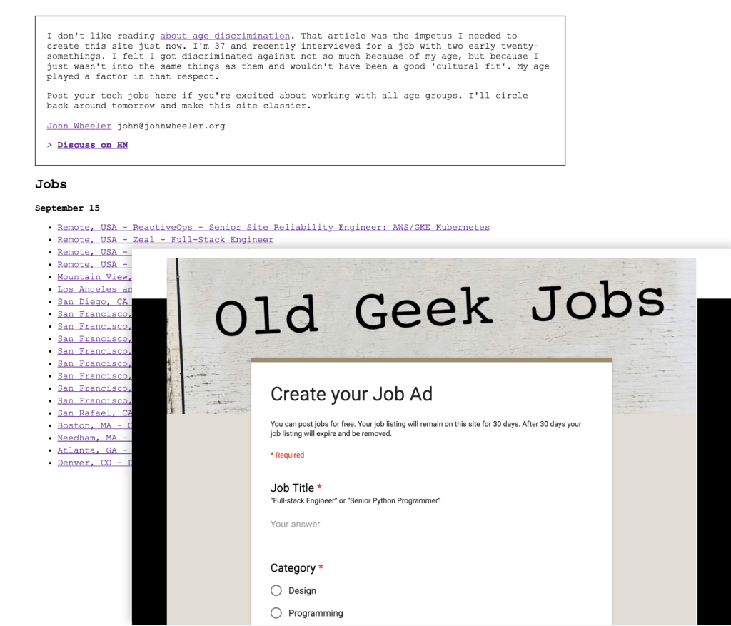 Old Geek Jobs before
