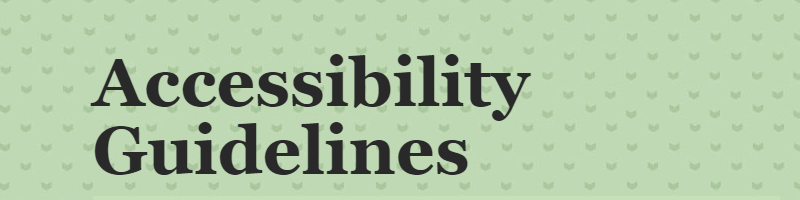 Accessibility Guidelines (checklist)