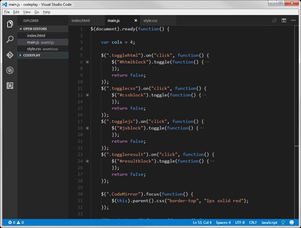 Visual Studio Code built in Electron