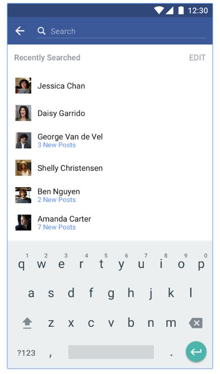 The Facebook app