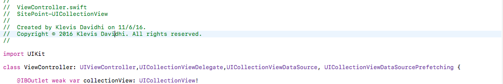 UICollectionView DataSourcePrefetching Example and Explanation