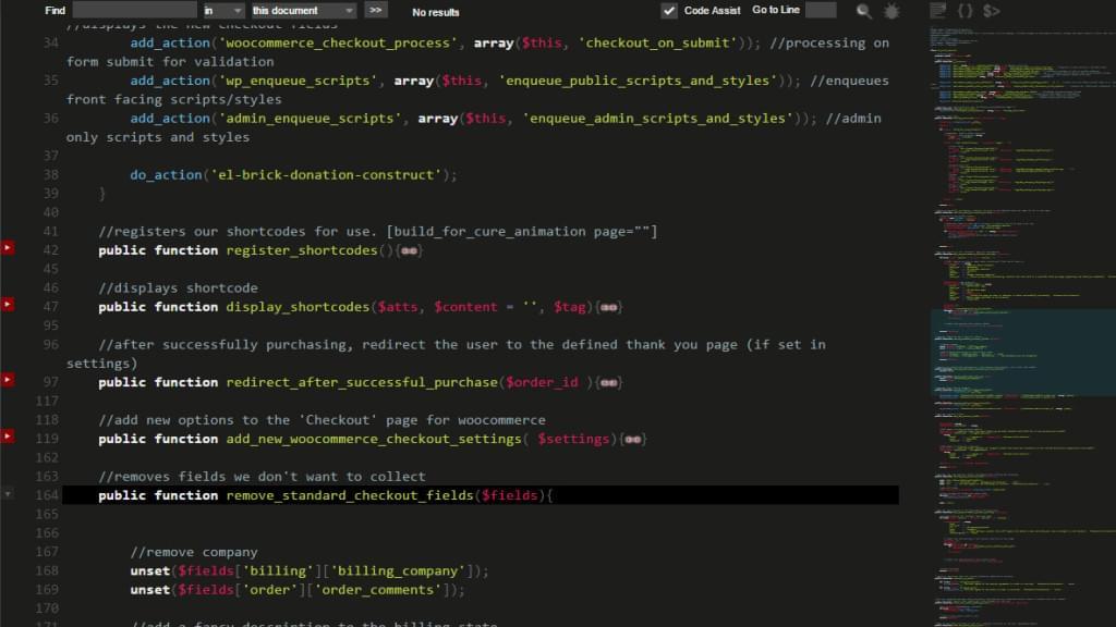 Minimap code scroller image