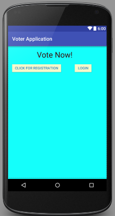 "Correct Contrast Ratio added to app for text ""Vote Now!"""
