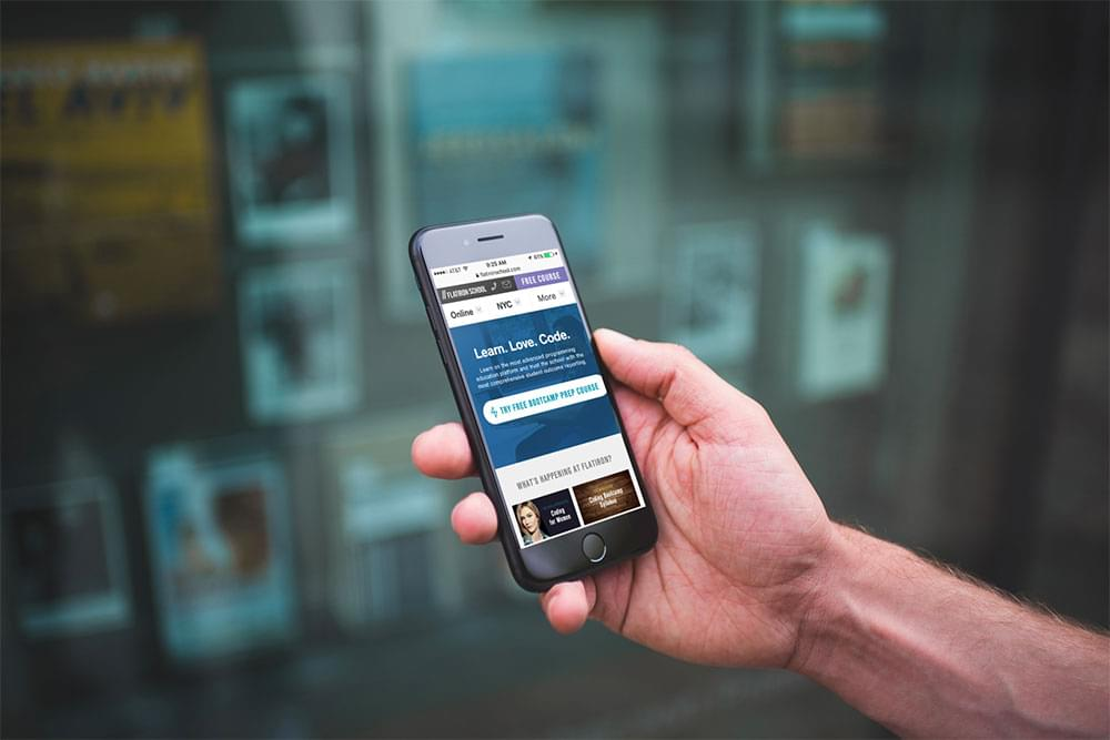 Flatiron School on mobile