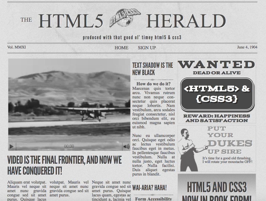 Introducing the HTML5 Herald Sample Site — SitePoint