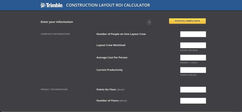 Trimble ROI Calculator