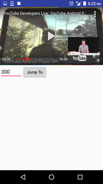 Using the youtube api to embed video in an android app sitepoint if you input a number that is larger than the duration of the video then the video will skip to the end youtube player ccuart Images