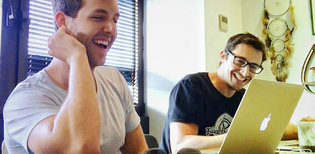 Hacking UI and Side Project Accelerator Co-Founders David Tintner (Left) and Sagi Shrieber (Right). Photo: Hacking Ui