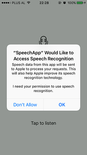Speech Recognition access