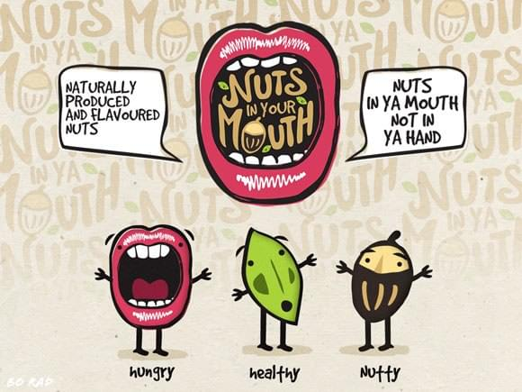 Logo design for Nuts in Your Mouth