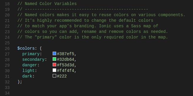 Overriding Color variables