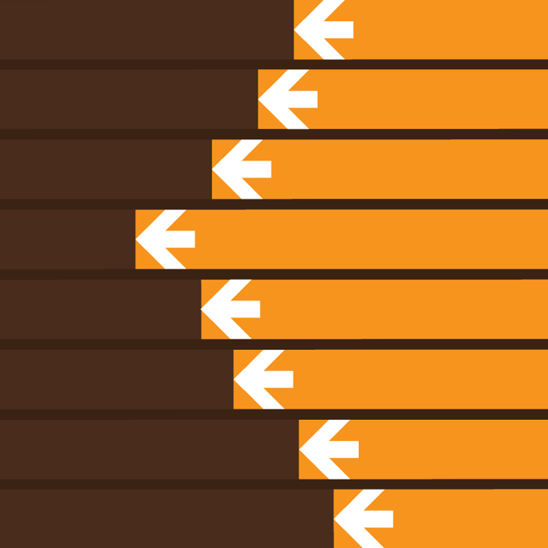 Vector image of parallel racing arrows, indicating multi-process execution