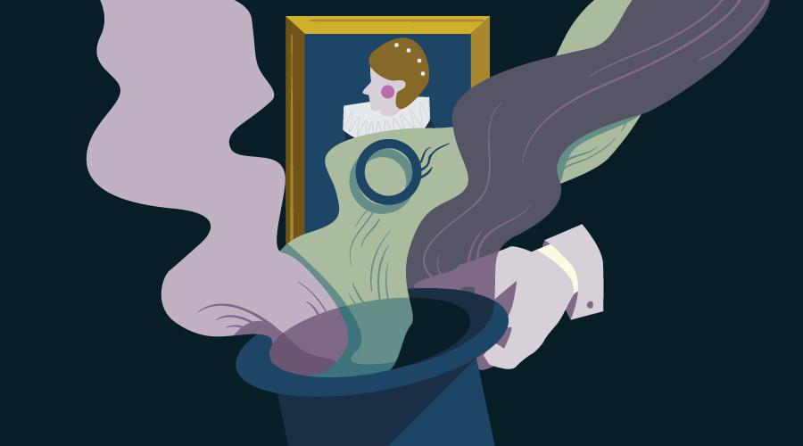 A magician revealing an image via progressive image loader