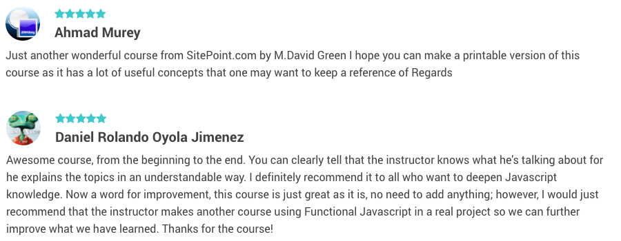 Functional JavaScript Programming reviews