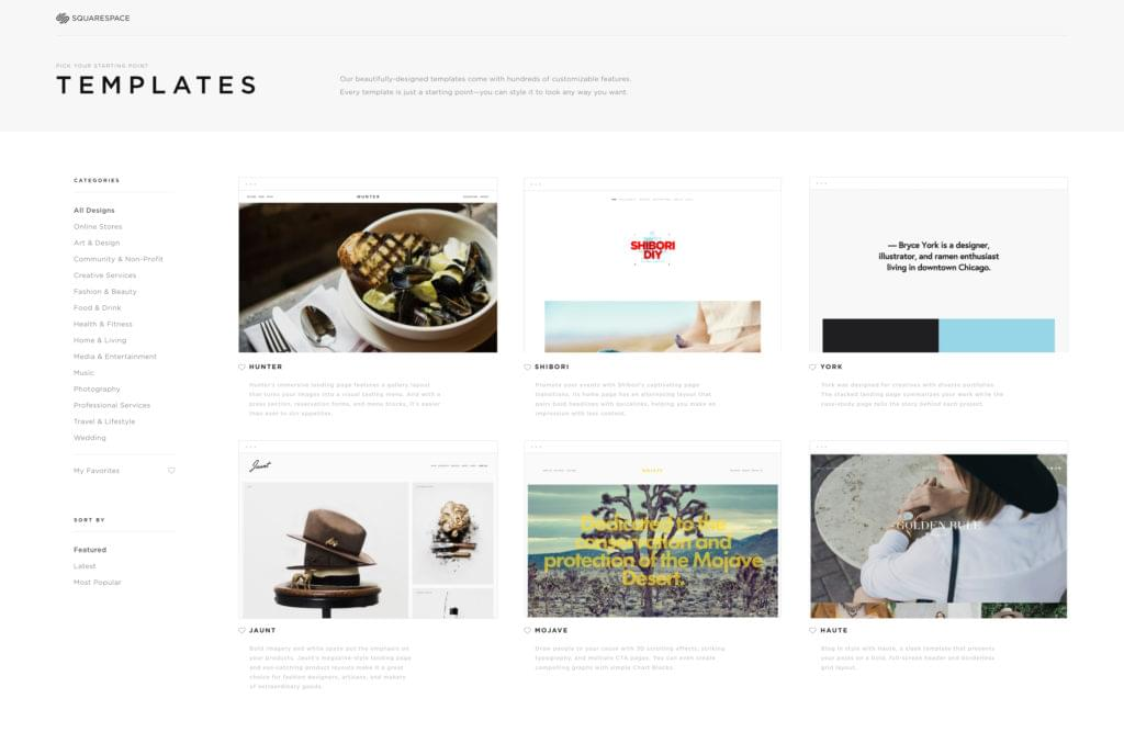How to create a beautiful portfolio website with for Squarespace portfolio templates