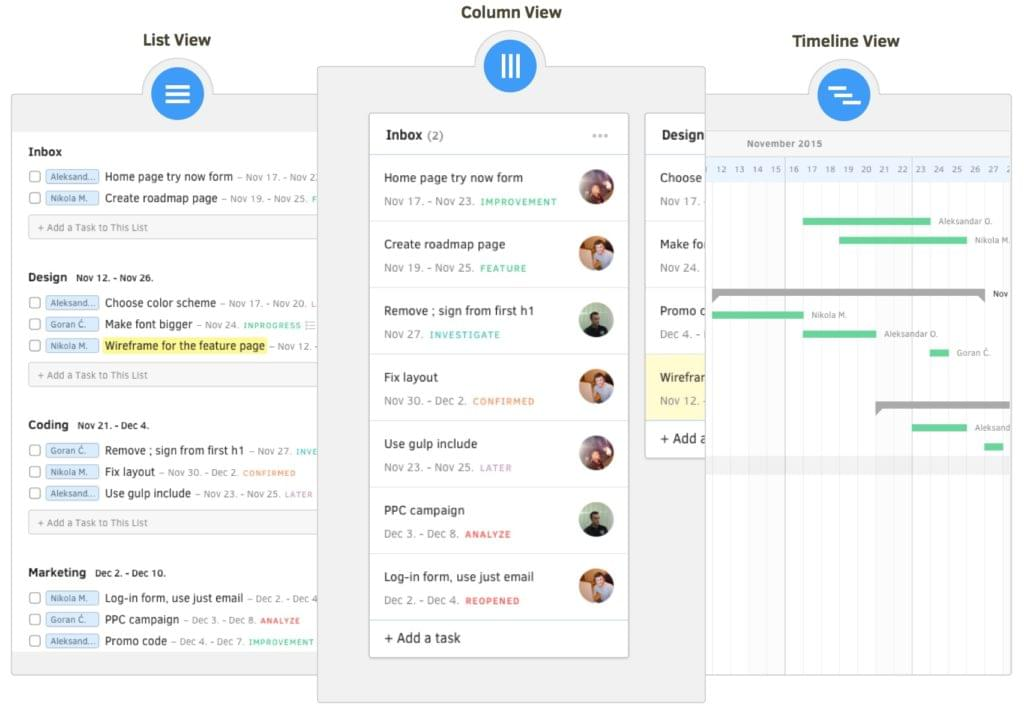 Flexible task view