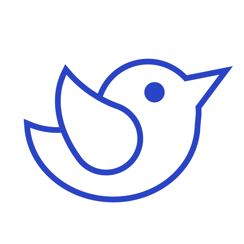 Outline of twitter logo