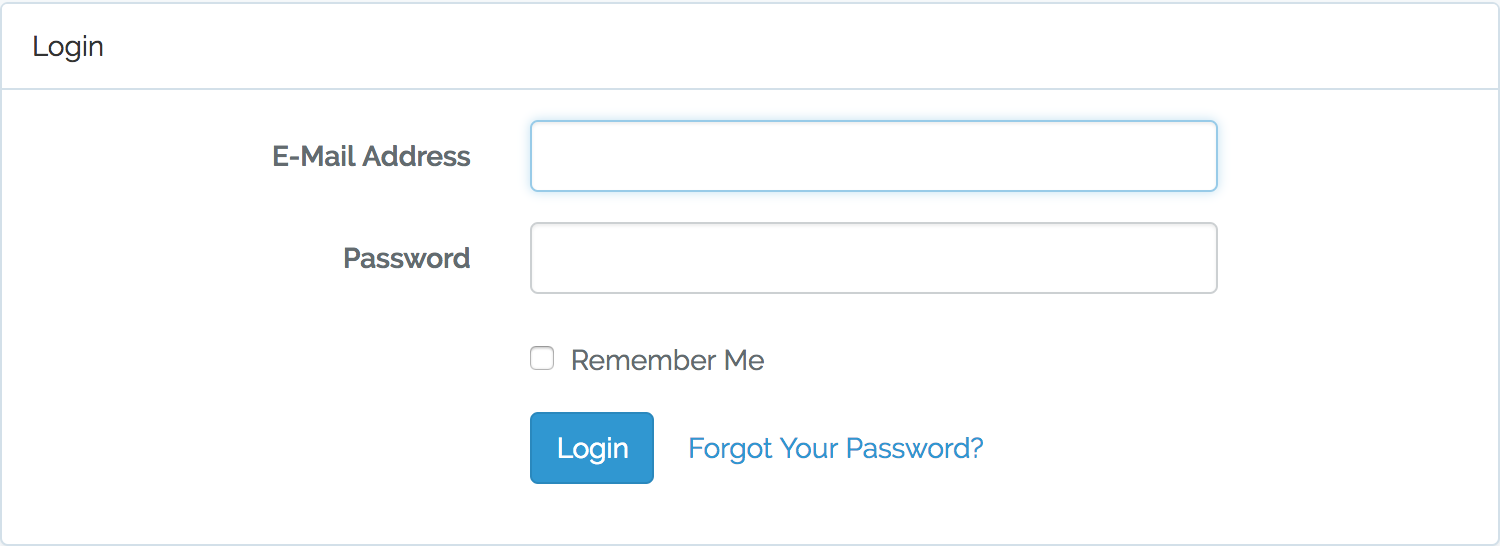 Laravel form based authentication