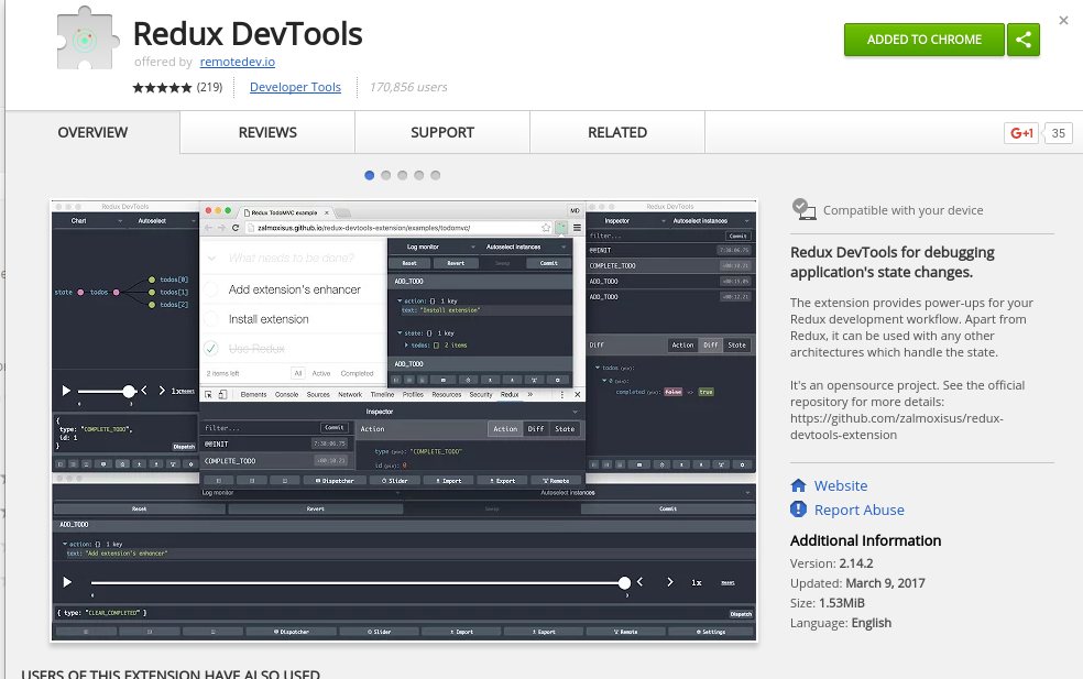 Chrome Redux Dev Tool