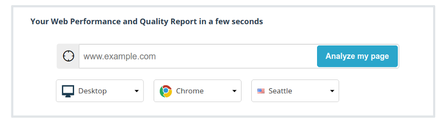 Set up a report