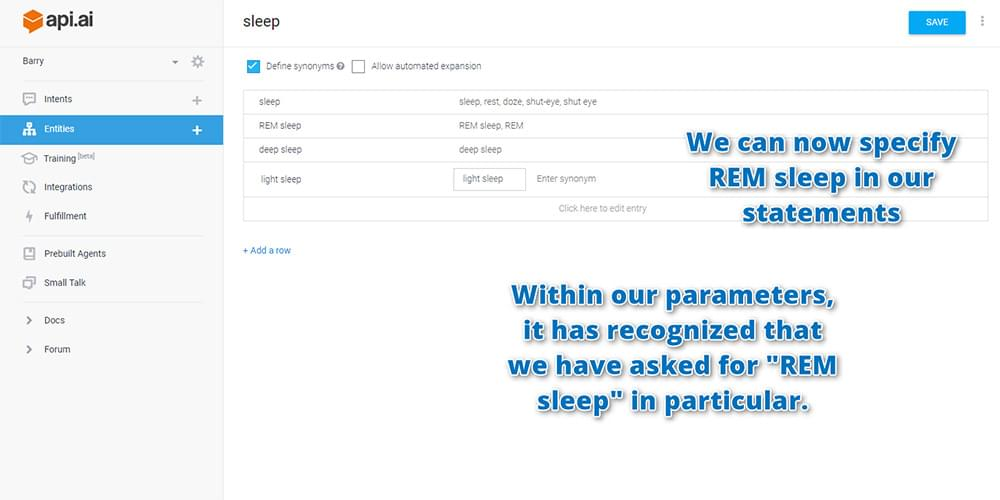 Testing your assistant by asking them about REM sleep
