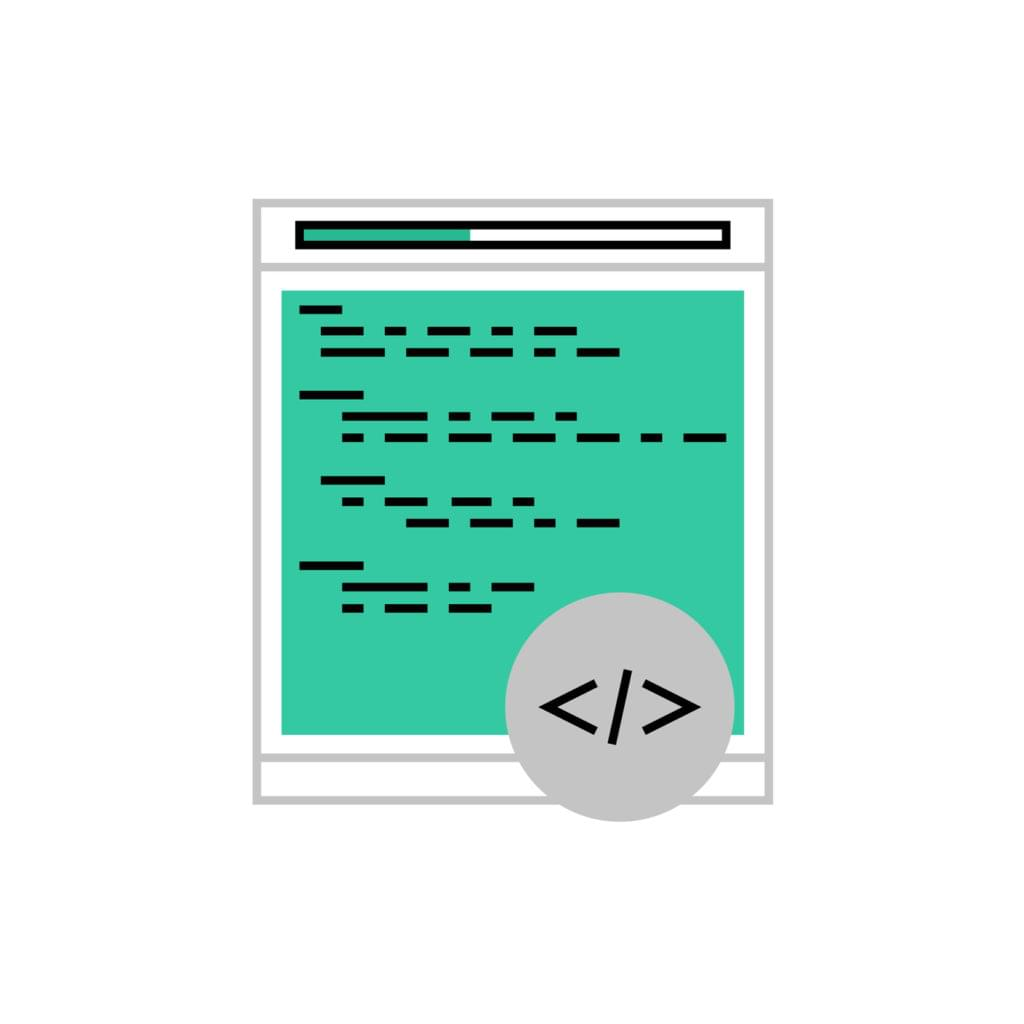 Vector image of a terminal or console application