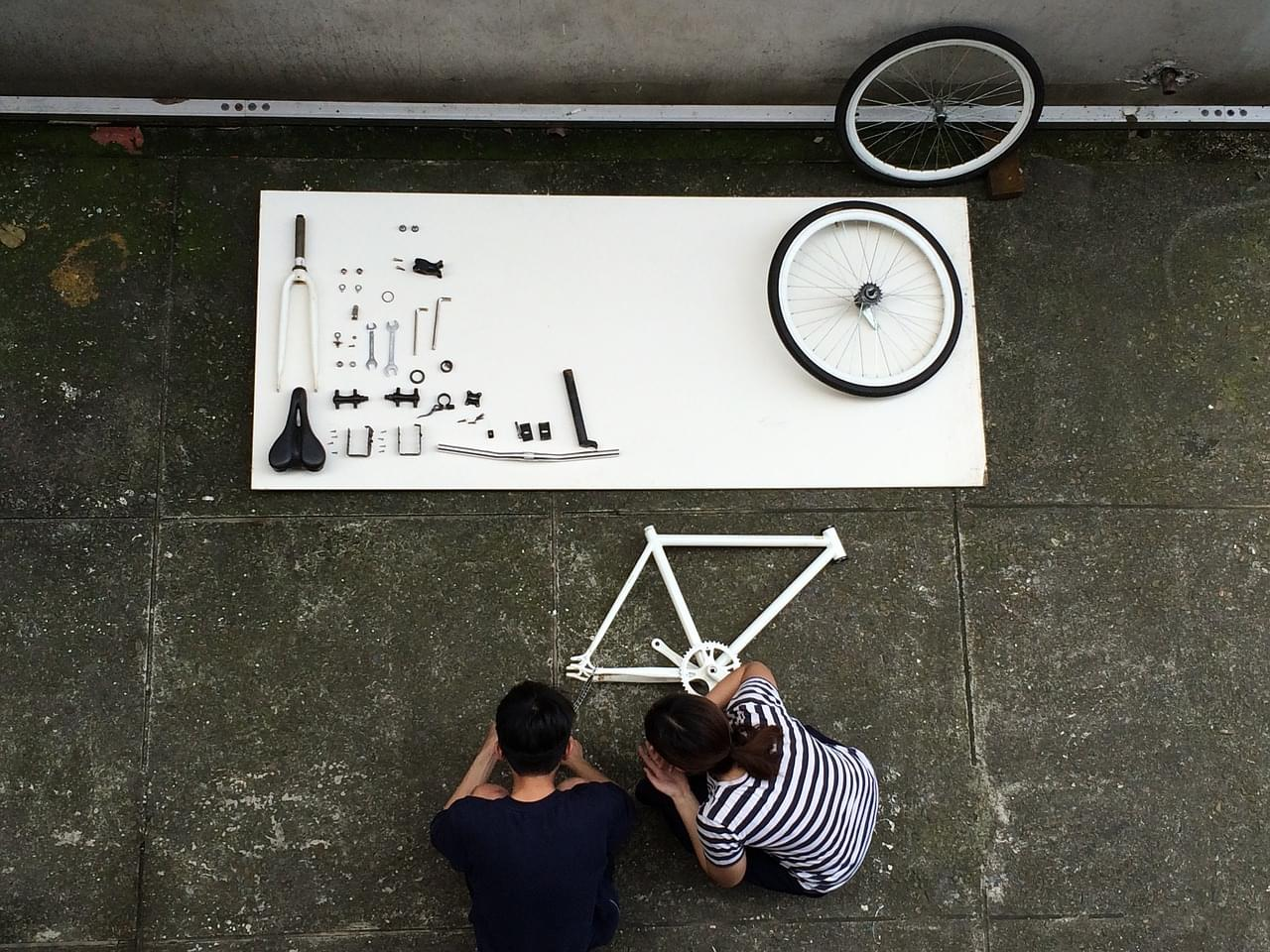 Assembling a bicycle