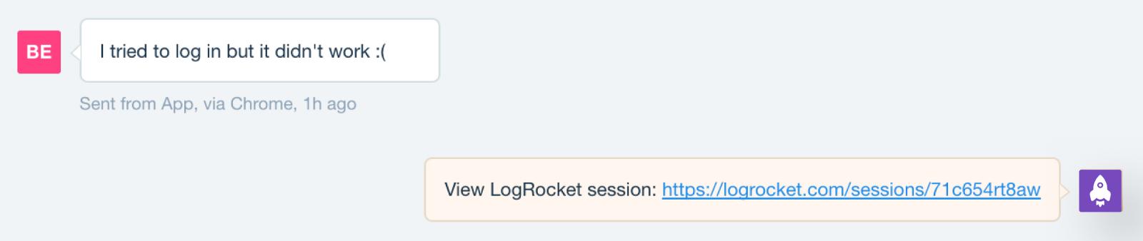 LogRocket support