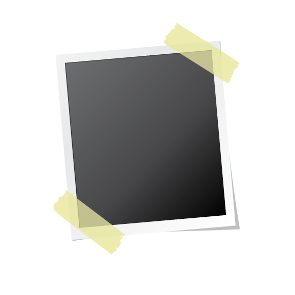 A vector image of a polaroid glued to a transparent background