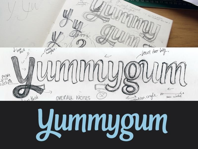 Claire Coullon YummyGum Original Sketches