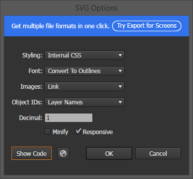 Optimize and Export SVG in Adobe Illustrator