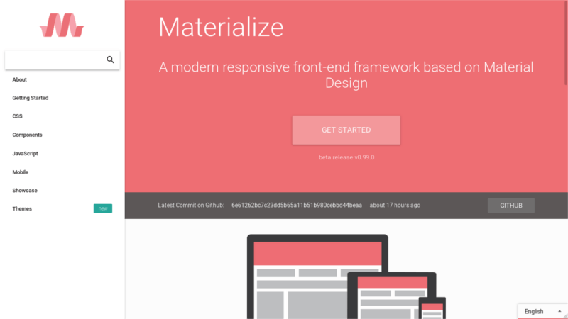 6 free material design css frameworks for 2017 compared for How to materialize