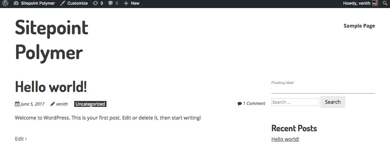 Using Polymer in WordPress: Paper Input