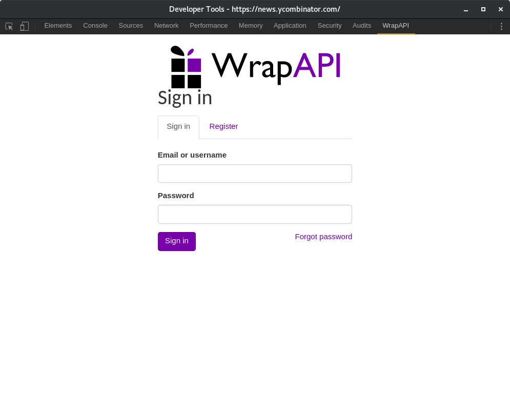 WrapAPI Chrome extension