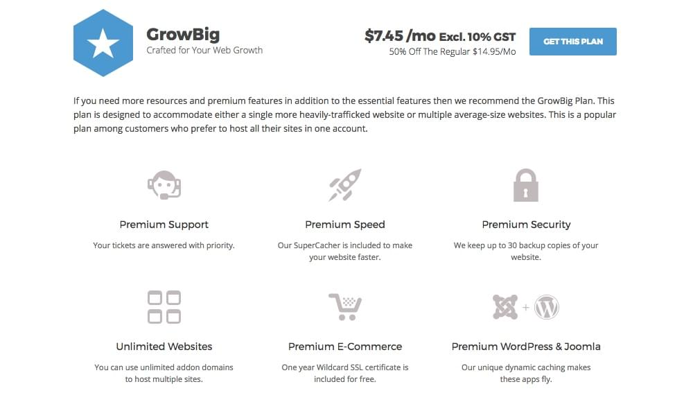 SiteGround Review: GrowBig