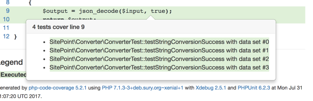 Tooltip over the convertString method