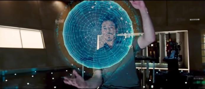 Tony Stark using Jarvis