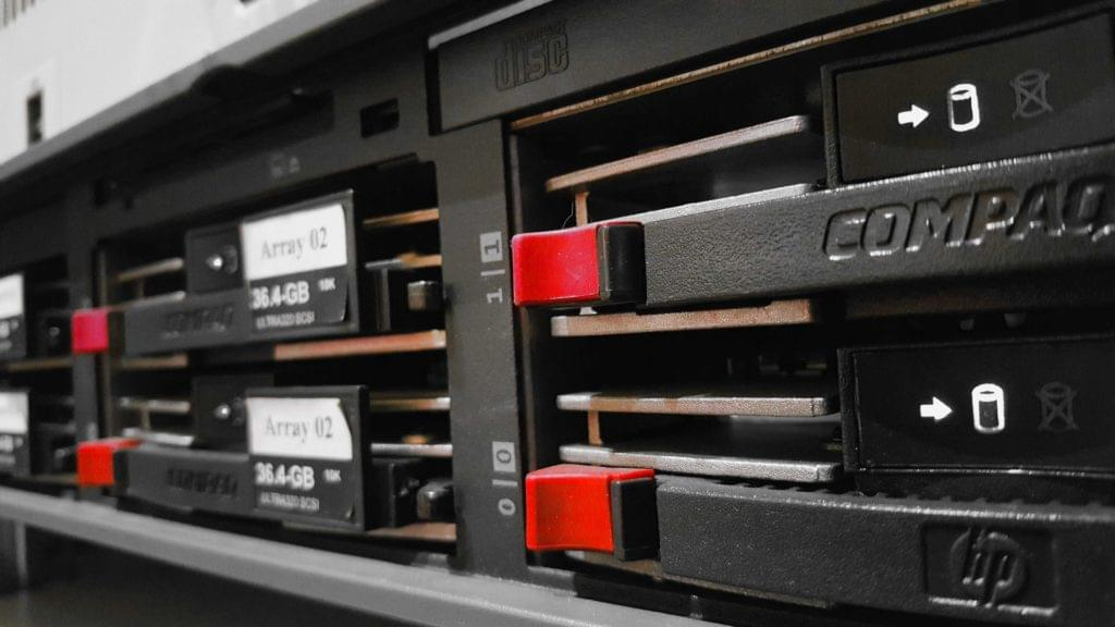 Web servers in a rack