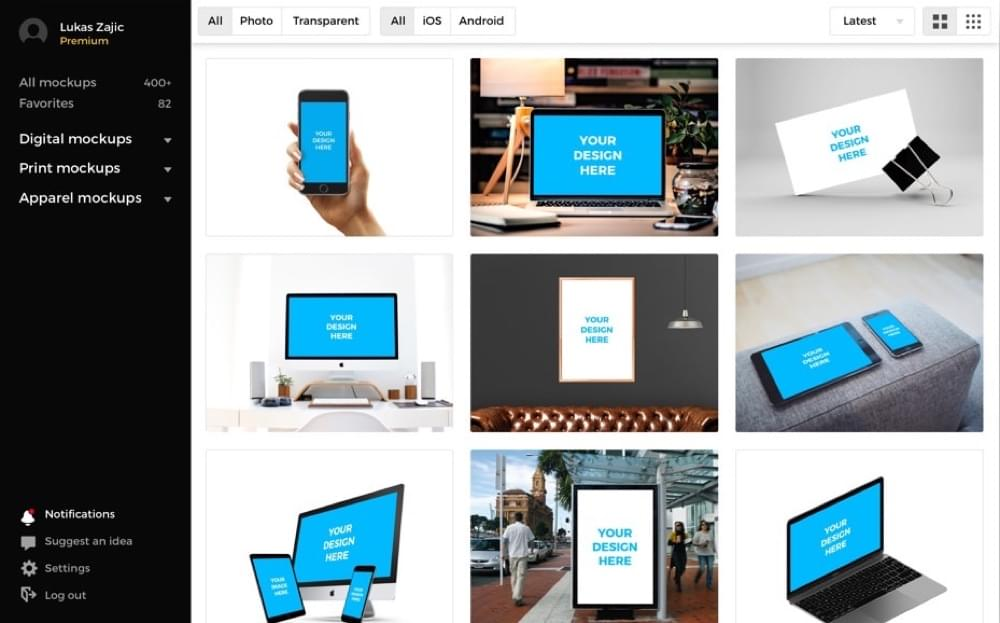 Smartmockups design tool