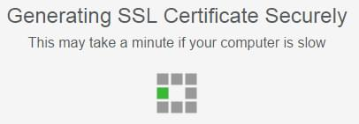 Generating and SSL certificate