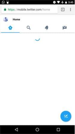 Twitter App Shell