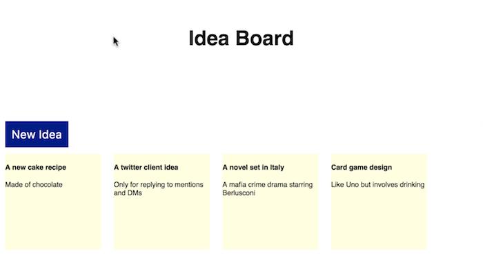 New Idea button