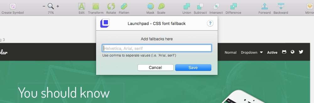 Defining font fallbacks in Launchpad