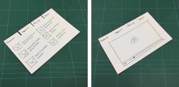 Paper or index cards easily substitute for tabs