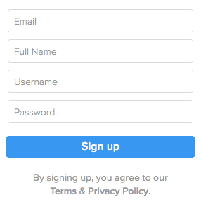The only color on this form is the background of the button