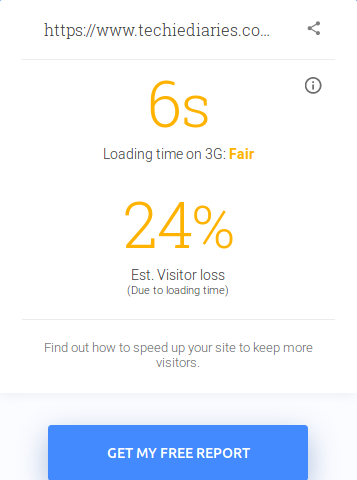 Google's Test My Site: Loading time  - 1511140193loading time - 23 Development Tools for Boosting Website Performance